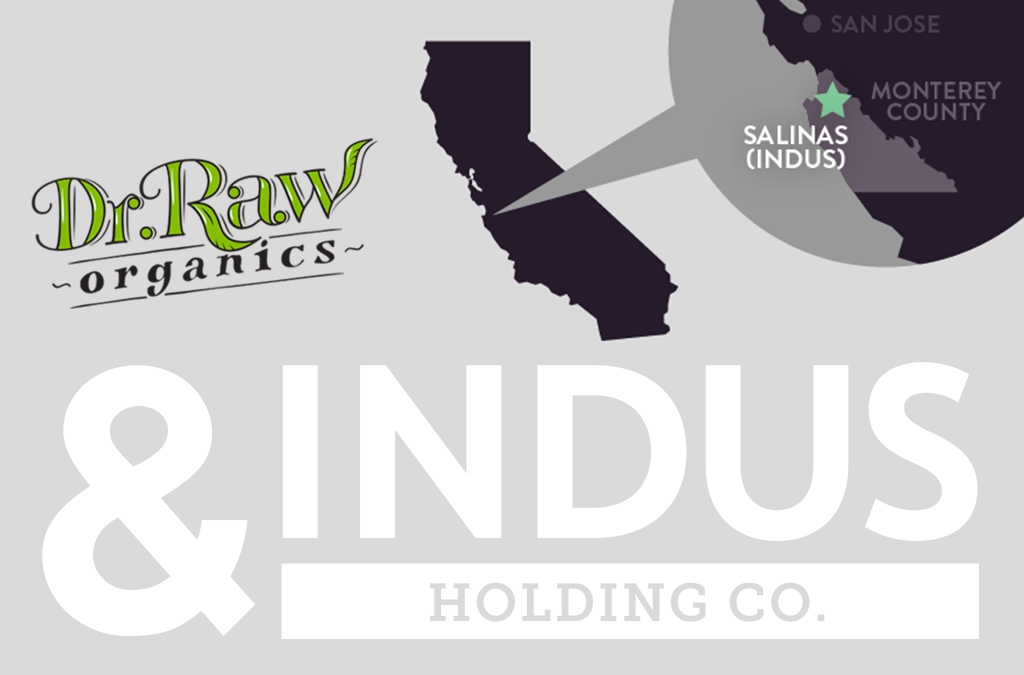 Dr. Raw Announces Manufacturing Partnership With Indus Holding Co.